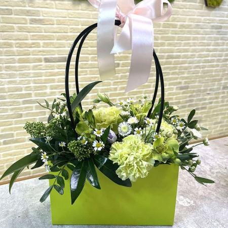 Композиция в декоративной сумке 001