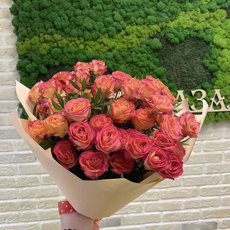 Букет из кустовых роз Самер денс  001