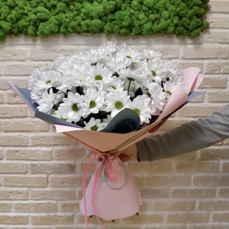 Букет из 11 Белых хризантем Чик