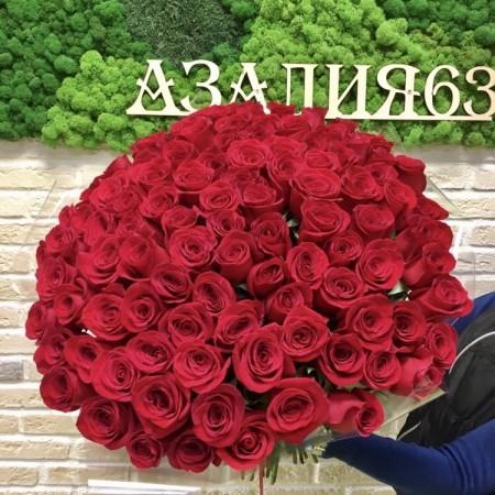 Букет  из 101 Крассной розы