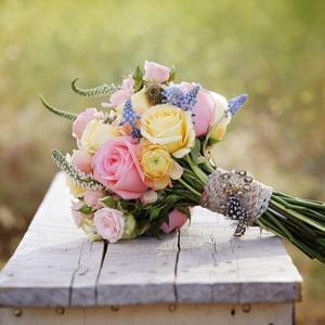 Летний свадебный букет